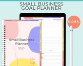 Small Business Planner for iPad. Business goal planner. Home business planner or Etsy shop planner. Digital business planner for GoodNotes