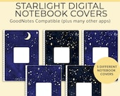 5 Starlight Digital Notebook covers, GoodNotes template, Notability cover, bullet journal, digital planner, iPad planner