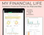 Numbers Budget Planner Spreadsheet for iPad or Mac. Personal Financial Planner with Expense tracker plus Savings, Asset and bill trackers