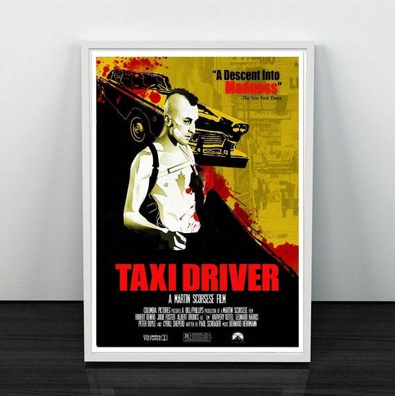 TAXI DRIVER ROBERT DE NIRO CANVAS PRINT PICTURE WALL ART 20 X 16 INCH FREE P/&P
