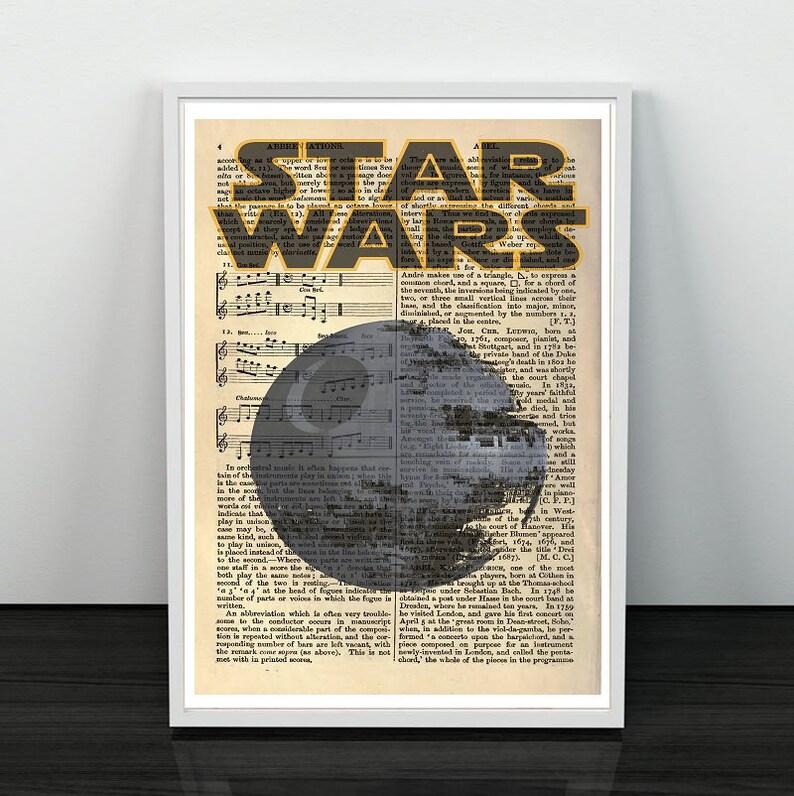 Mínimo de Star Wars Storm Trooper Ilustración Impresión-Varios Tamaños-Idea de Regalo