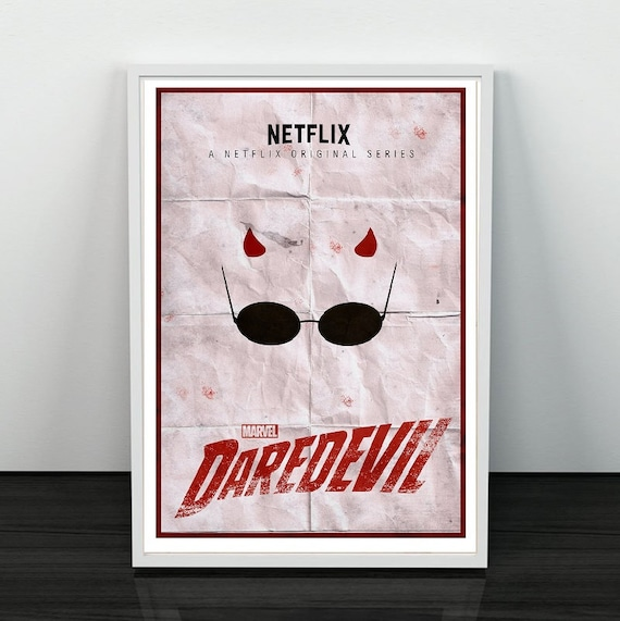 Daredevil Tv Show Devil Hells Kitchen Netflix Marvel Comics Etsy
