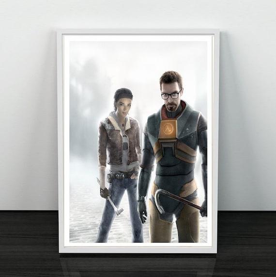 Half Life 2 Gordon Freeman City 17 Citadel Apocalypse Post Apocalyptic Game Gaming Alternative Graphic Minimalist Minimal Poster Print