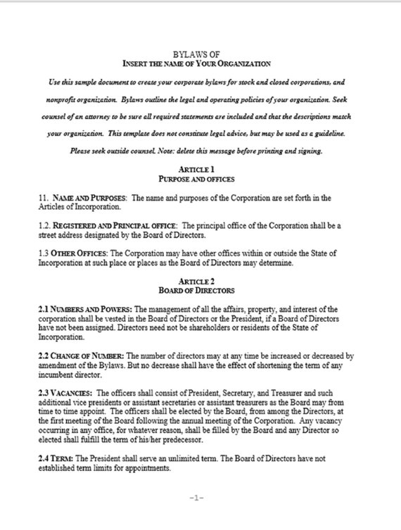 4+ free bylaws templates to help you write bylaws in best way possible.