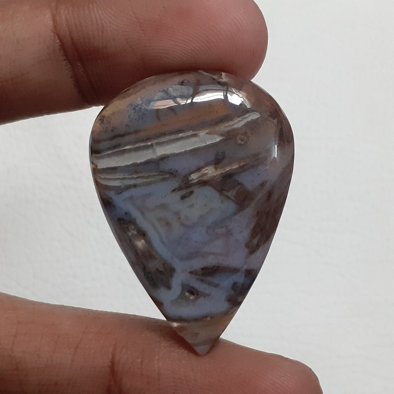40 Ct Loose Gemstone For Making Jewelry 36X26X5 MM Pear Shape Cabochon NA-873 Fantastic Top Grade !! AAA+ One Quality Stick Agate