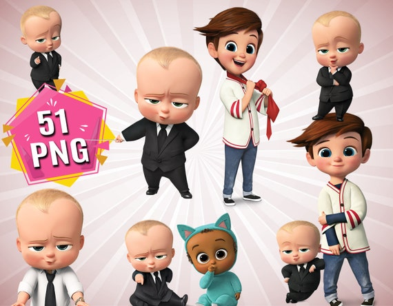 The Boss Baby Clipart Boss Baby Png Files Baby Boss Clipart Baby Cartoon Characters Transparent Background Instant Download