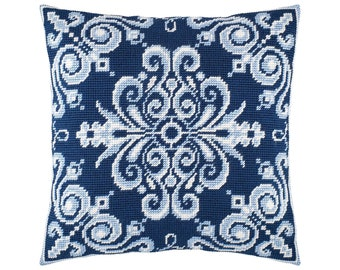 Throw Pillow 16/×16 Inches European Quality Flower Pots Needlepoint Kit Printed Tapestry Canvas