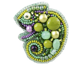 Needlework beading decoration. Tela Artis Bead Embroidery Seed beaded brooch Bullfinch DIY Jewelry making kit