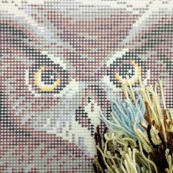 "Needlepoint//Tapestry Pillow Cover DIY Kit /""Owl/"""