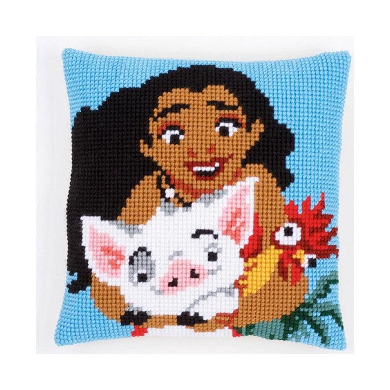 Needlepoint Kit Vervaco cushion Disney Vaiana Adventures DIY Kit