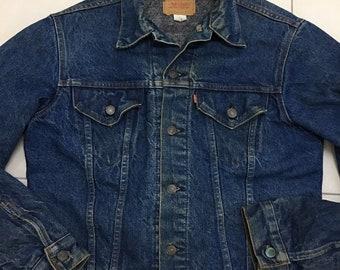 e5a1ee74 Vintage Levi's Jacket 70505 Blanket Lined denim Jacket USA Size 42