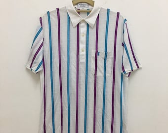 a545e18f1f92d Vintage Yves Saint Laurent Polo Shirt YSL Size Medium