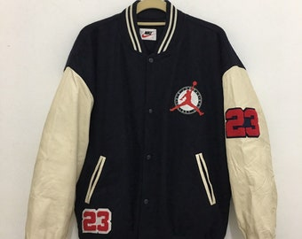 2372bdf5a72f9d Vintage Nike Air Jordan Varsity Jacket Size Large