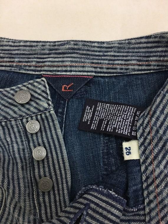 45 rpm jeans Hickory Stripes Workwear Denim Pants