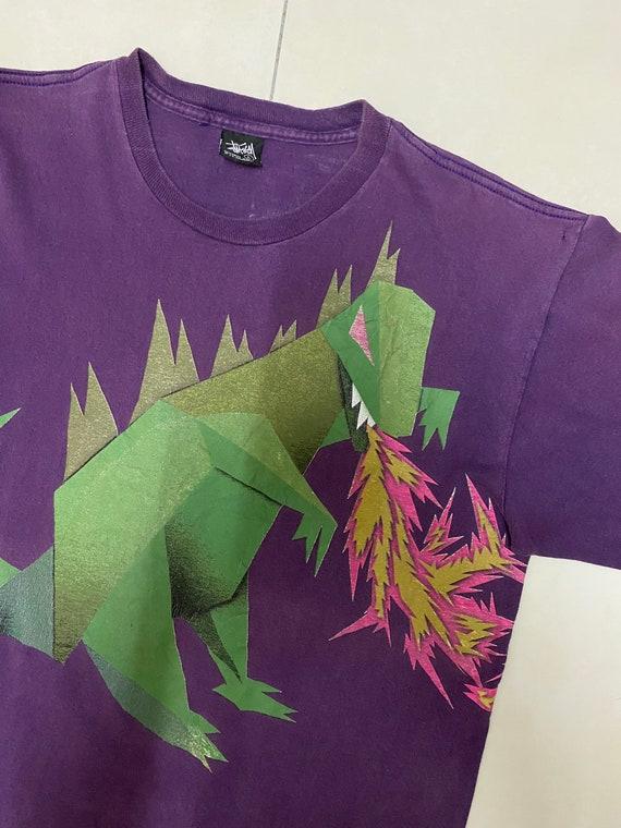 Vintage Stussy Shirt Dinosaur Dragon Streetwear T… - image 6