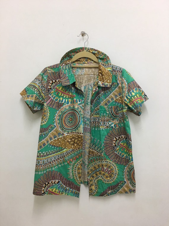 Vintage Baroque Shirt Like Versace Silk Shirt