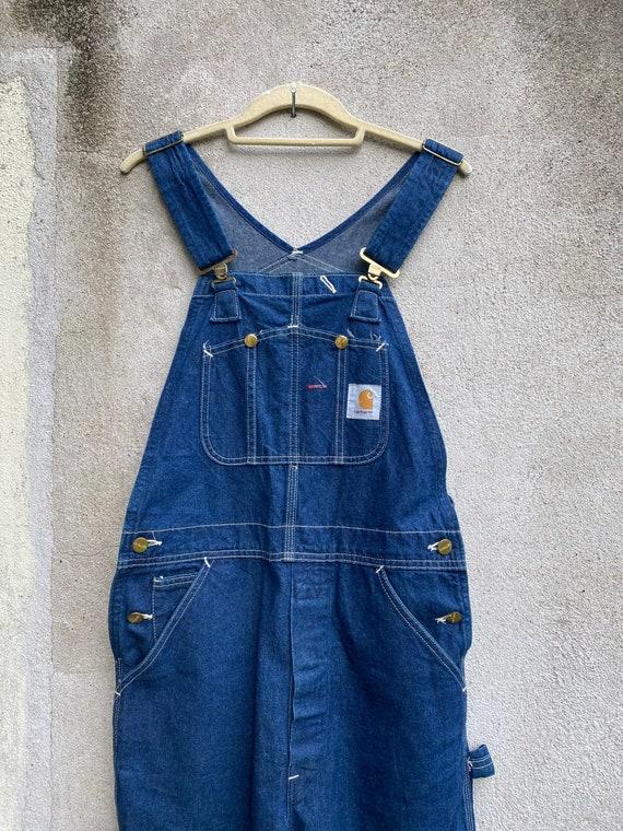Vintage Carhartt Overalls Denim Workwear Jeans Mad
