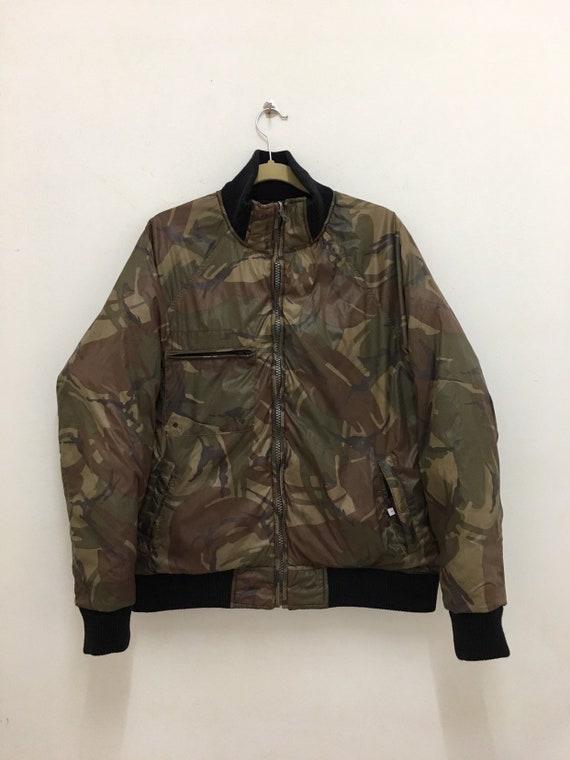 John Bull Down Jacket Camouflage Reversible Bomber Jacket Johnbull Size Large