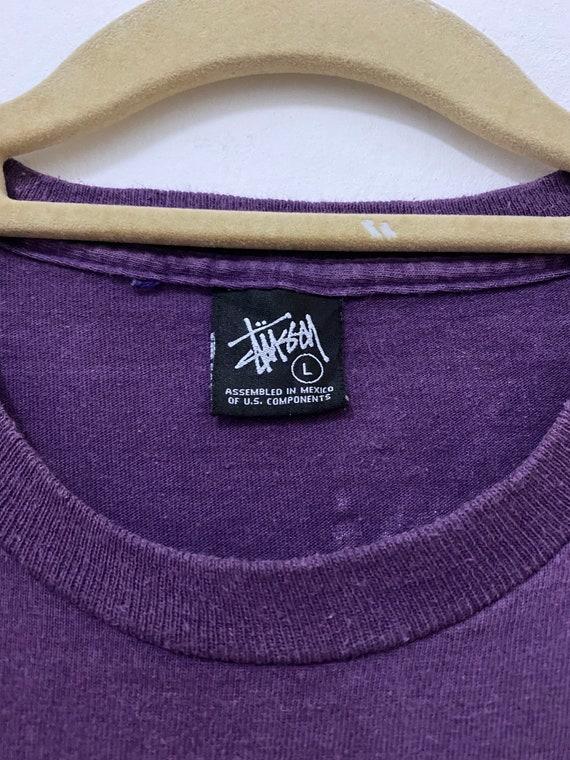 Vintage Stussy Shirt Dinosaur Dragon Streetwear T… - image 2