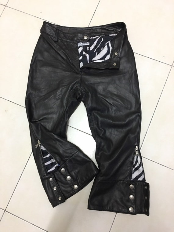 Dolce and Gabbana Pants Vintage D&G Black Leather