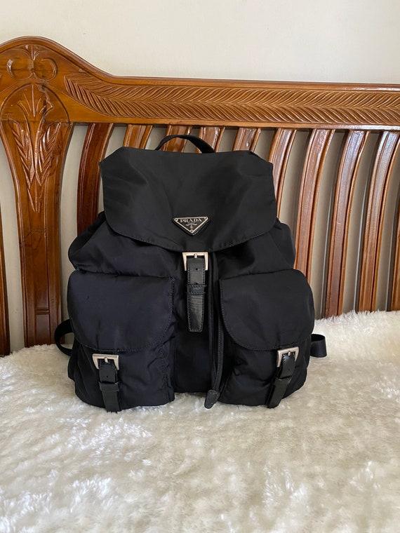 PRADA Bag Vintage Prada Twin Pocket Black Nylon Ba