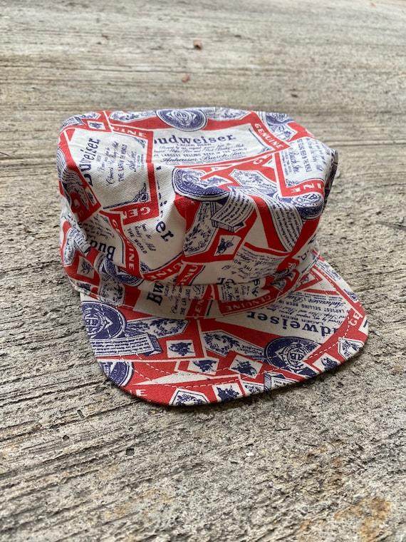 Vintage Budweiser Hat novelty Print Engineer Cap - image 5
