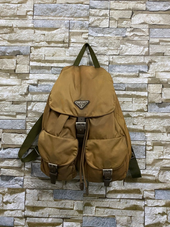 PRADA Bag Vintage Prada Twin Pocket Nylon Backpack