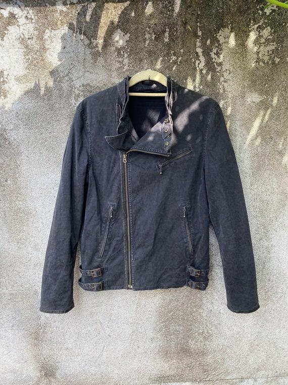 Beams Japan Jacket Black Leather denim Motorcycle