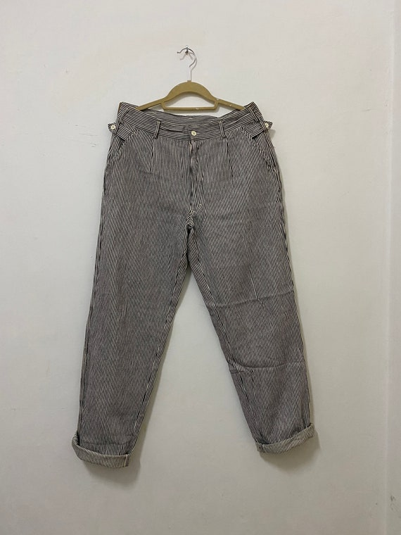Vintage Pants Striped GAVIAL Japanese Brand Workwe