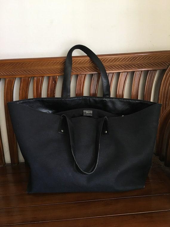 Dior Bag Vintage Christian Dior Canvas Leather Bla