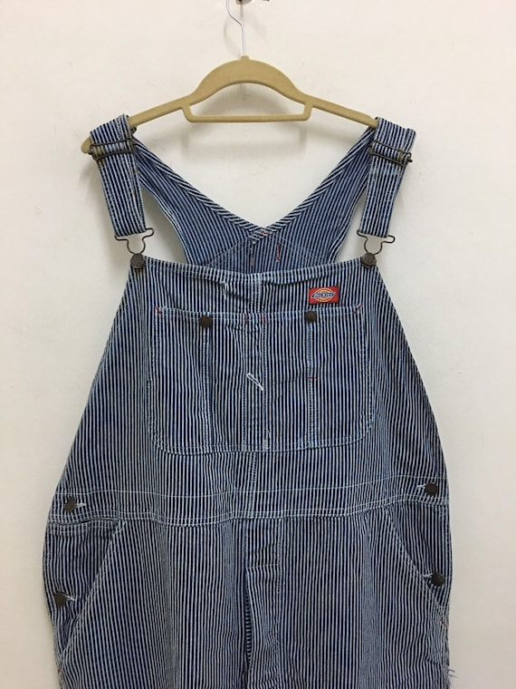 Vintage Dickies Overalls Striped Carpenter Wide le