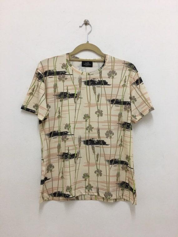 promo codes get new new arrive Vintage Hermes Shirt Classic Print Cotton Hermes Paris T Shirt | Etsy