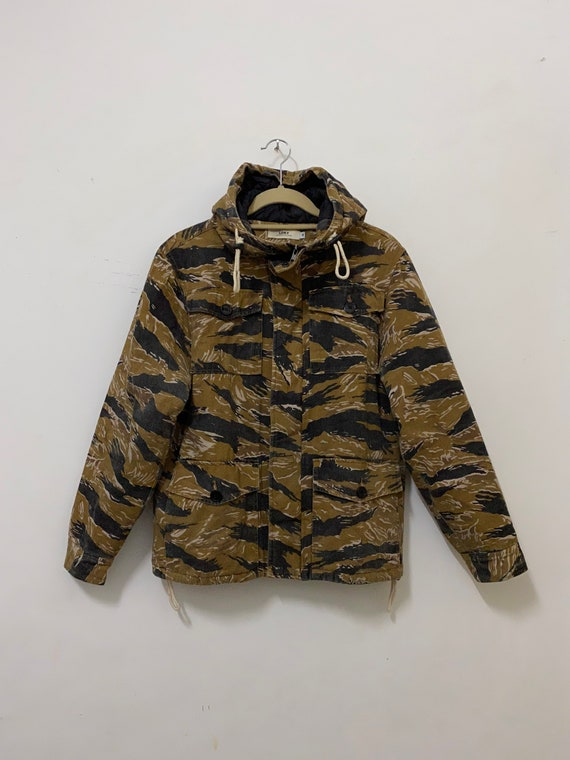 Tiger Stripe Camo M65 Field Jacket Hood Loky Japan