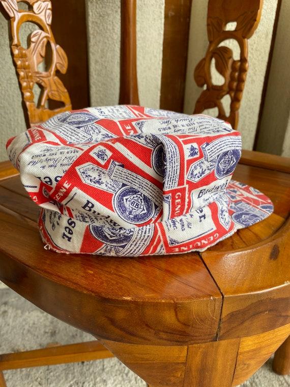 Vintage Budweiser Hat novelty Print Engineer Cap - image 4