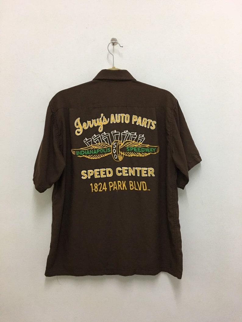Vintage STYLE EYES SPORTSWEAR by sugar cane toyo enterprise embroidery bowling shirt size M