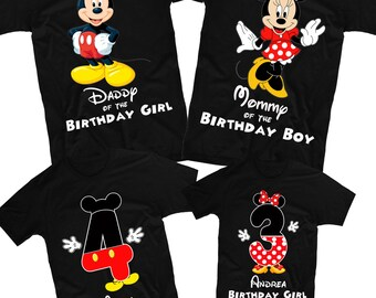 Mickey Mouse Shirt And Minnie Birthday Family Shirts Disney Custom