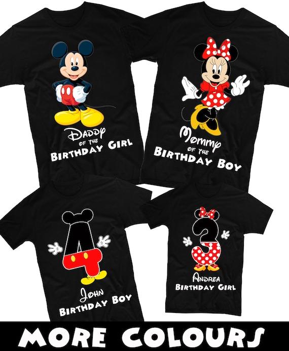 Mickey Mouse Shirt And Minnie Birthday Family Shirts Disney Custom