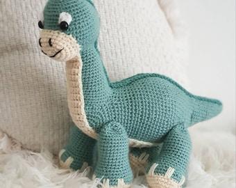 Large plush Dinosaur, soft stuffed dino toy, handmade amigurumi crochet