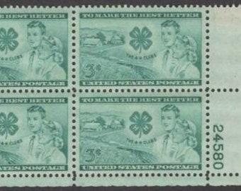 Postage Stamps Vintage Full Mint Sheet of 50 U.S 1952-4-H CLUBS