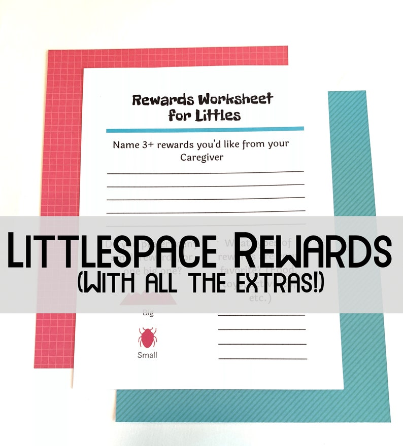 Littlespace Rewards: Workbook, Blank Chart, DDlg Coloring & Activities    DDlg Printable for DDlg Toys
