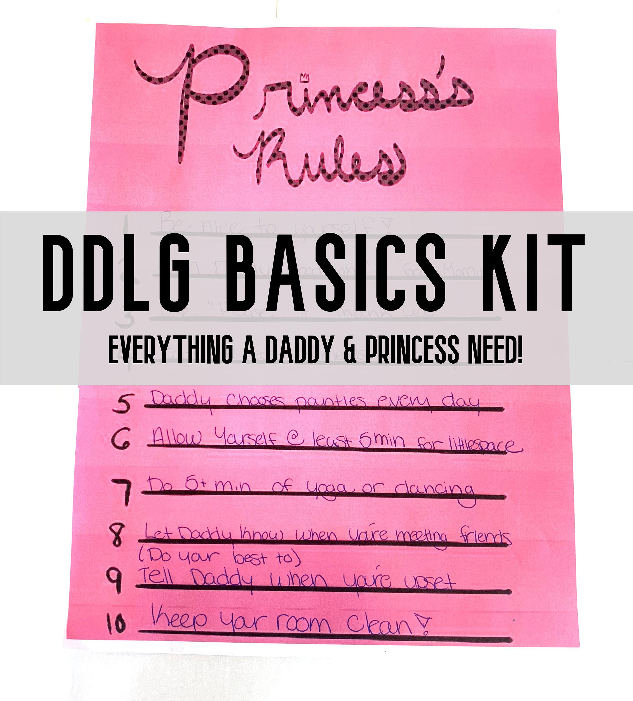 DDlg Basics Kit for little Princess BDSM Pink Sticker