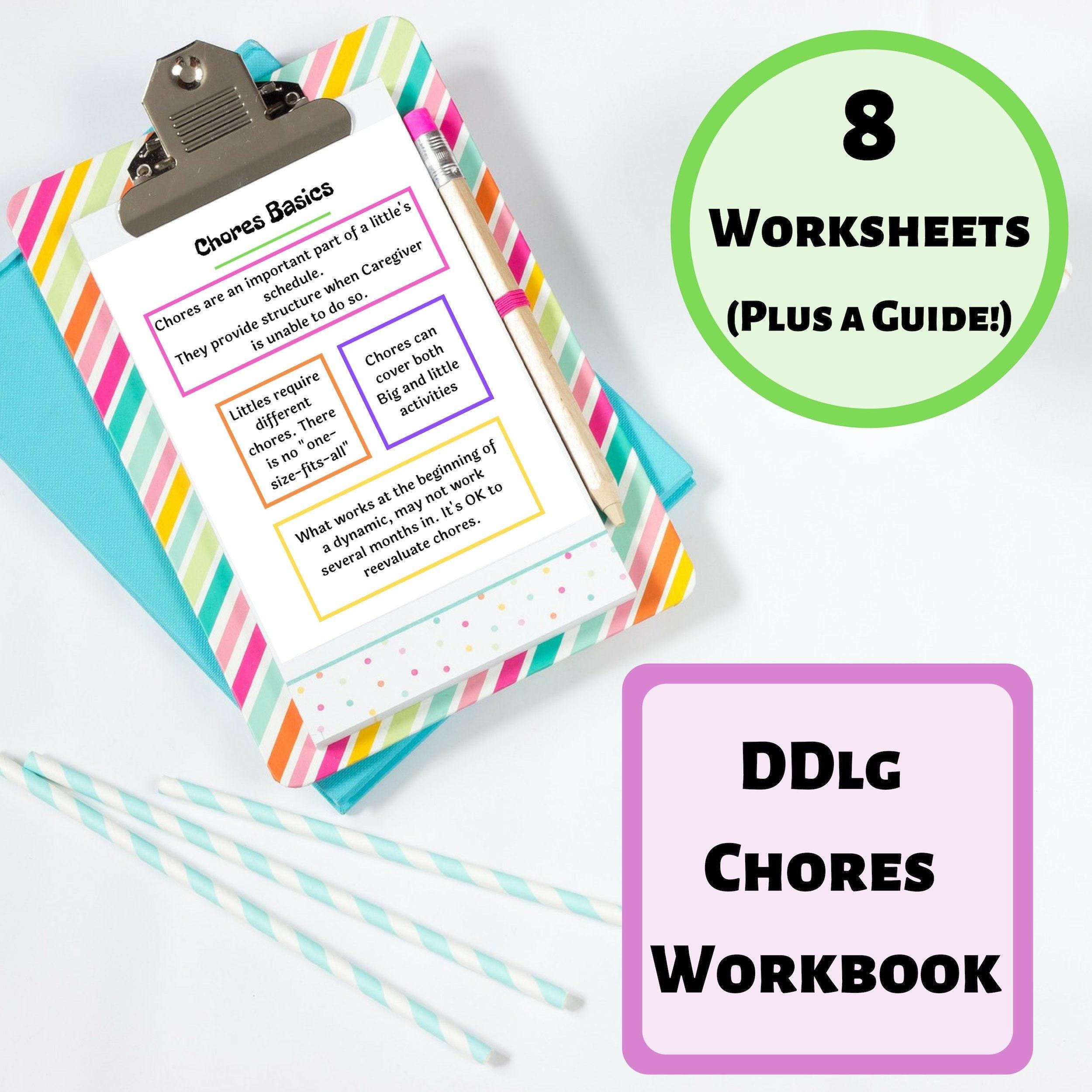 Printable Chores Workbook for CGl Dynamics | Little Space Printable Reward  Chart | BDSM Printable for Daddy Babygirl