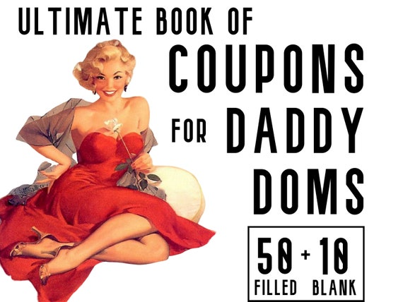 Daddy Dom Coupons For Bdsm Sexy Gift For Him Naughty Ddlg Etsy