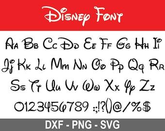 Disney font svg | Etsy