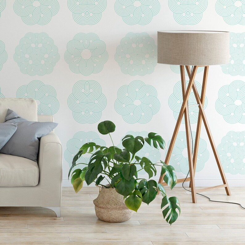 Mandala Wallpaper Removable and Self Adhesive. Hand Painted Designs