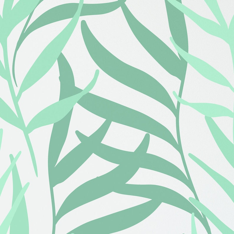 Any Size Peel and Stick Wallpaper Any Color Available. Self Adhesive Removable Green Floral Wallpaper Accent Wall Pastel Green