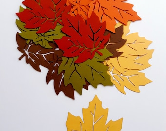Die Cut Maple Leaves 40 Paper Leaf Tags Cardstock Maple Leaf Cut Outs Choose Size Color
