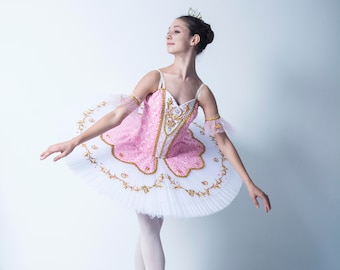 72aa1795305b Basic Professional stage ballet costume, adult kids dancewear bodice ballet  skirt, French style - F 0045