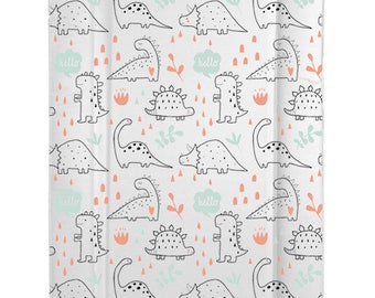 Baby Changing Mat Bright Coloured Dinosaurs