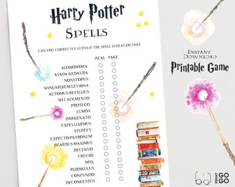photo about Printable Harry Potter Spells identified as Harry potter spells Etsy